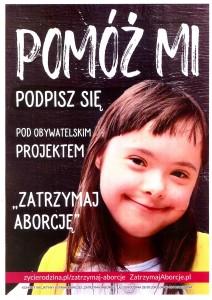 Plakat Zatrzymaj Aborcję